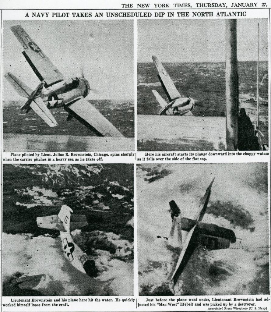 Brownstein, Julius R Lt JG New York Times 1944 01 27